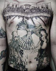 Bold Tattoos Feature Intricately Etched Interpretations Of Famous Masterpieces - DesignTAXI.com