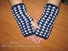Brds of a Feather Gloves - Meladora's Creations Free Crochet Patterns & Tutorials
