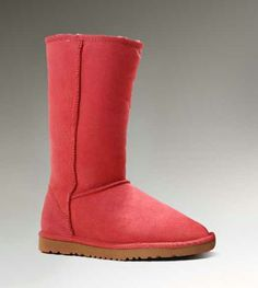 UGG Womens Red Boots 5815 Tall Classic