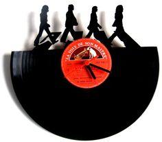 Horloge vinyle Beatles Abbey Road by Funkyvinyl on Etsy, €37.00