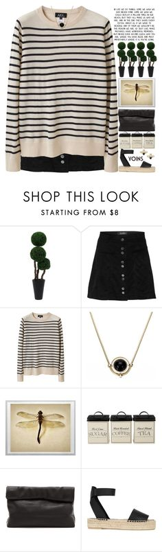 """i hope you all have a good day (desc)♡"" by alienbabs ❤ liked on Polyvore featuring A.P.C., Marie Turnor, Vince, women's clothing, women's fashion, women, female, woman, misses and juniors"