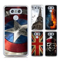 >> Click to Buy << Hot Sale Captain Case for LG G6 Phone Bag Case Emoji Eiffel Tower Guitar UK Flag Skull Painting Soft TPU + Hard PC Shell #Affiliate