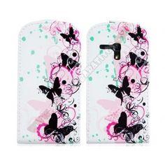 61b18ddc37e Funda tapa flip divertida diseño mariposas para Samsung Galaxy S3 Mini
