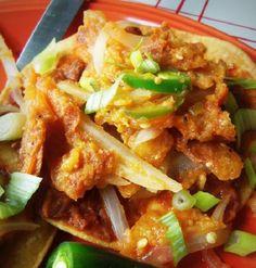 Spicy Chicharron Tostadas HispanicKitchen.com