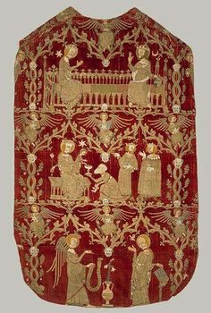 Chasuble anglaise de l'an 1330.