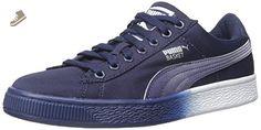 PUMA Women's Basket Classic Mesh Fade Sneaker, Peacoat, 5.5 B US - Puma sneakers for women (*Amazon Partner-Link)