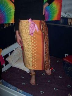 flower skirt.