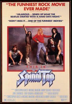 #125 This Is Spinal Tap 1984 (Dir. Rob Reiner. With Michael McKean, Christopher Guest, Harry Shearer, Billy Crystal, Fran Drescher, Rob Reiner)