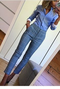 Nice blue work outfit Miladies net - fashionYou can find Work attire and more on our website. Classy Work Outfits, Summer Work Outfits, Work Casual, Outfit Work, Casual Office, Smart Casual, Summer Work Clothes, Work Outfit Winter, Casual Chic