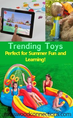 Trending Toys Perfect for Summer Fun and Learning! A great list of popular outdoor toys, science games, STEM toys, and silly games for the whole family.