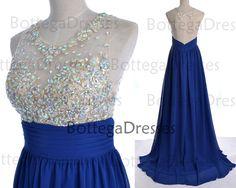 Royal Blue Prom Dresses 2014 Prom Gown Straps by BottegaDresses, $169.00 @tiinatolonen
