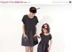 2 dresses Summer dress Baby doll dress matching by ANNAKSHOP, $44.00