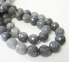 Grey Faceted Quartz Round BeadsGray Round Ball by BijiBijoux https://www.etsy.com/listing/201518258/grey-faceted-quartz-round-beadsgray?ref=listing-shop-header-0
