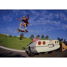 #tonyhawk corvette street Ollie launch ramp 1987 photo:Brittain Order the gnarly 388-page coffee table book TRACKER - Forty Years of Skateboard History at top profile link @trackertrucks