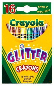 Multi-Colored Glitter Crayons