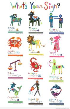 Zodiac/Star Sign Illustrations by Jill McDonald Design - Astrologie Zodiac Signs Astrology, Zodiac Capricorn, Zodiac Star Signs, 12 Zodiac, Leo And Cancer, Taurus And Gemini, Cancer Sign, Aquarius, Jill Mcdonald