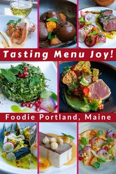 Curious what a tasting menu looks like? Love foodie travel? See delicious photos from Portland, Maine: a great restaurant destination in New England!