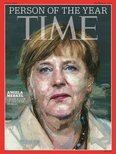 """La chancelière allemande Angela Merkel a été désignée mercredi personnalité de l'année 2015 par le magazine américain Time, qui a salué sa capacité à """"faire face"""" aux défis qui se sont présentés à l'Europe tout au long de l'année. Elle devance, dans l'ordre,..."""