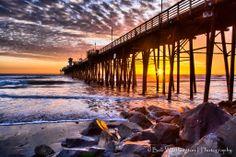 Bob Worthington Photography  -  Sunset at the  Oceanside Pier.