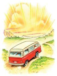 The memories...good fun, camping in the VW Bus