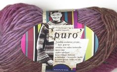 Puro purple yarns