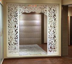 Design Inspirations for a Prayer Room at Home - CasaNesia Living Room Partition Design, Pooja Room Door Design, Room Partition Designs, Jaali Design, Mandir Design, Pooja Rooms, Prayer Room, Living Room Designs, Home Design