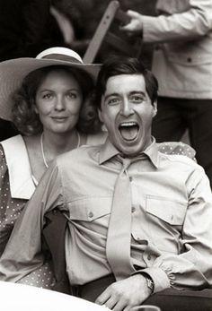 Diane Keaton and Al Pacino on set of The Godfather Francis Ford Coppola Via Diane Keaton Al Pacino, Diane Keaton Films, Hollywood Actresses, Old Hollywood, Actors & Actresses, The Godfather, Celebrity Couples, Celebrity Photos, Celebrity Babies