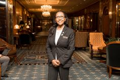 """Known to colleagues as the """"Grandmother of the Lobby,"""" Sara Ashenafi has been working at the Waldorf Astoria for 38 years. Today, as a lobby ambassador, Ashenafi says she considers the Waldorf her home."""