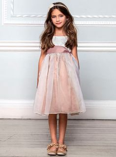 Lela Butterfly Dusky Pink Bridesmaid Dress - younger girls (2-10) - special occasion  - Children, reduced to £28, BHS