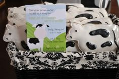 cow invite and cookies