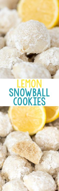 EASY Lemon Snowball Cookies - this is my favorite wedding cookie recipe! Add lemon zest, juice, and extract to your favorite tea cakes to make the perfect lemon cookie.