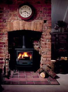 Rustic and beautiful upgrade for a traditional fireplace