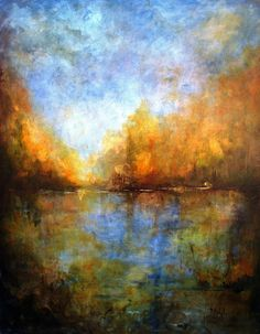 """Seasons Art Exhibition - 2nd Place Overall – Nihal Kececi – """"Vancouver Zapp"""" - Nihal Kececi is a Turkish born artist now living and creating in Maryland. She works in acrylics, oils and pastels and creates her works in a large scale. She has been generating a consistent body of work as a professional artist and taking classes at the Washington Studio School in Washington, DC and the Yellow Barn Studio, MD since 2004. Despite Nihal's talent in art, over the years... www.nihalart.com"""
