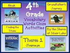 Cloze Worksheets for Houghton Mifflin Harcourt 4th Grade Theme 1