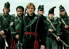"""""""The Sharpe Series"""" based on the Napoleonic Wars and the efforts of the British to defeat the enemy using the newest technique of """"sharpshooters""""! Load, prime and fire three times in one minute - with accuracy! Based on the novels by Bernard Cornwell."""