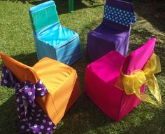 The mix and match pack consists of 20 x chair covers in the colours of your…