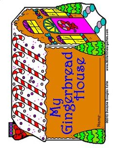 This Gingerbread House stationery is available in three formats: primary lines, small lines, and no lines! Use with any grade level! Included is a Gingerbread House book cover. Staple to any kind of paper, cut out and you have a shape writing book! Pages available in black and white as well as full color!