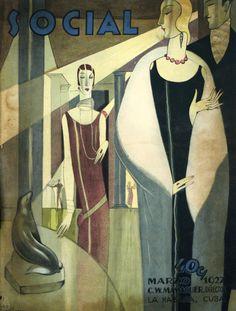 Havana Deco, Art Deco was a popular international design movement born in Paris and continue until 1939 Art Deco Posters, Vintage Posters, Vintage Cuba, Vintage Vogue, Vintage Ads, Pinturas Art Deco, Art Nouveau, Art Deco Paintings, Inspiration Art