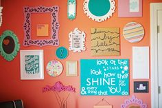 LOVE this gallery wall and the colors!