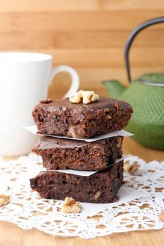 Coconut Chocolate Black Bean Brownies (gluten-free)