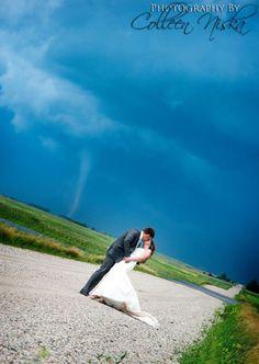 These stunning wedding photos will blow you away. Haaaaa (tornado joke).