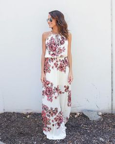 Walk Me Home Floral Maxi Dress