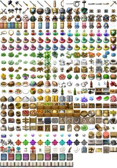 Click this image to show the full-size version. Game Icon Design, Rpg Maker Vx, Dungeons And Dragons Miniatures, Dungeon Master's Guide, Pixel Characters, Pixel Art Games, Game Props, Texture Packs, Game Concept