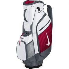 Nike Golf 2015 Sport III Cart Trolley Golf Bag - White Silver University Red Include One Dozen FREE Nike RZN Black Golf Balls