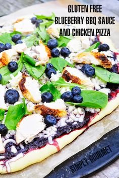 Simply Gourmet: Sweet and Tangy Blueberry BBQ Chicken Pizza  #Sund...