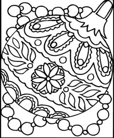 coloring page christmas ornament