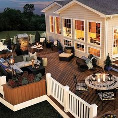 My kind of backyard deck! - Architecture and Home Decor - Bedroom - Bathroom - Kitchen And Living Room Interior Design Decorating Ideas - #architecture #design #interiordesign #homedesign #architect #architectural #homedecor #realestate #contemporaryart #inspiration #creative #decor #decoration
