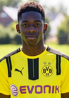 Ousmane Dembele poses during the team presentation of Borussia Dortmund on August 17 2016 in Dortmund Germany
