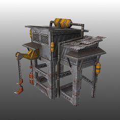 Obj Oil Refinery - 3D Model   Oil Refinery   Oil refinery, Oil jobs