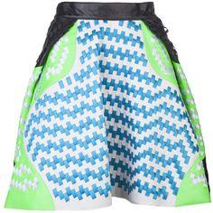 MARTINA SPETLOVA Flared laced skirt ($1,275) found on Polyvore